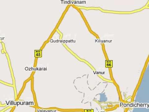Route to Pondicherry