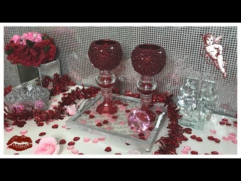 DIY - DOLLAR CANDLE HOLDERS - ❤️ RUBY RED ❤️
