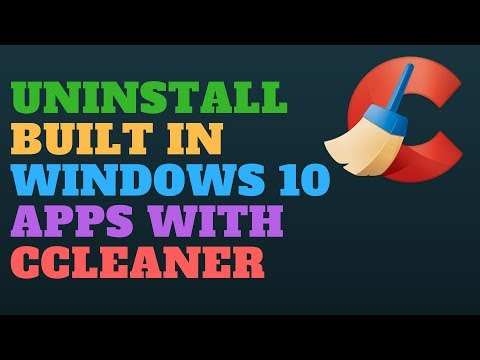 Uninstall Built-In Windows 10 Apps with CCleaner