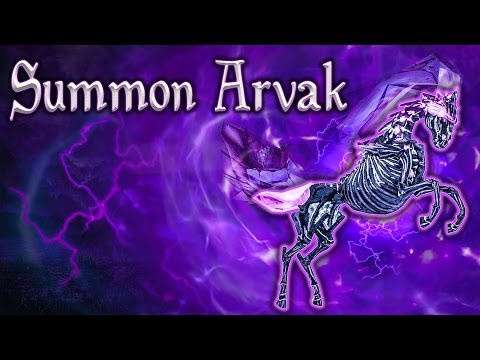 Skyrim SE - Summon Arvak - Unique Spell Guide