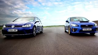 Golf R VS Subaru WRX STi - Fifth Gear