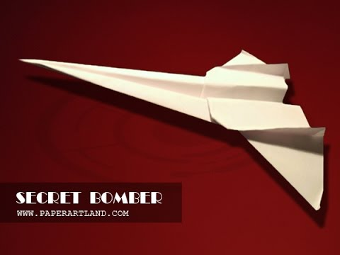 Best Paper Planes: How to make a paper airplane that Flies FAST | Secret Bomber [SD]