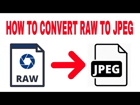 How to convert raw to jpeg || hindi