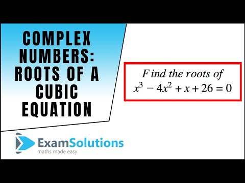 Complex Numbers : Roots of a cubic equation : ExamSolutions