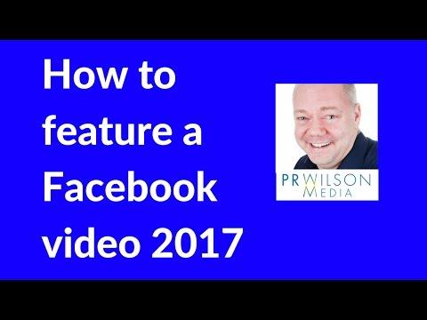 Facebook featured video