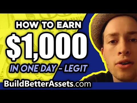 How to make 1000 dollars a day online (LEGIT)