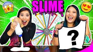 DESAFIO DA ROLETA MISTERIOSA DE SLIME! (Mystery Wheel Of Slime Challenge) | Blog das irmãs