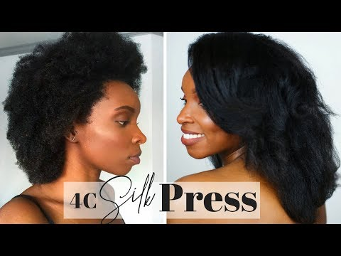 HOW TO | SILK PRESS on 4C HAIR Using A HOT COMB!!!