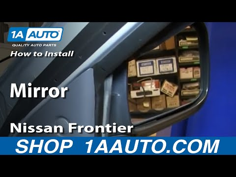 How To Install Replace Fix Broken Side Rear View Mirror 1998-04 Nissan Frontier XTerra