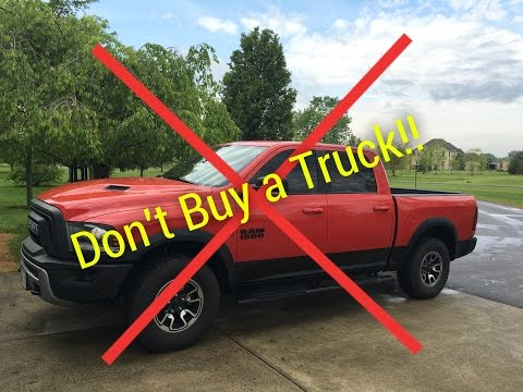 Don't Buy a Truck - 5 Reasons Why...
