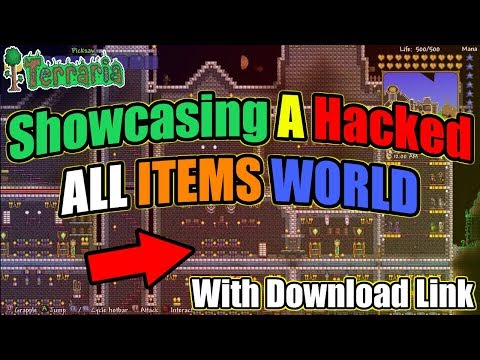 Terraria XBOX ONE - 1.4 ALL ITEMS MAP (Made By Sacrifice C) + APRIL FOOLS!!