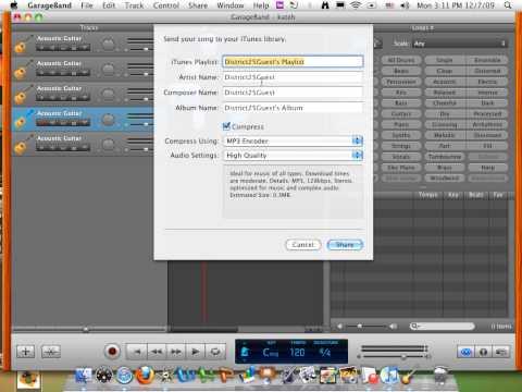 iMovie05-Importing CD, GarageBand Into ITunes