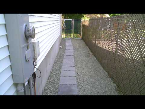 Crushed Stone and Paver Walk