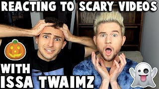 Reacting to CREEPY videos w/ ISSA TWAIMZ