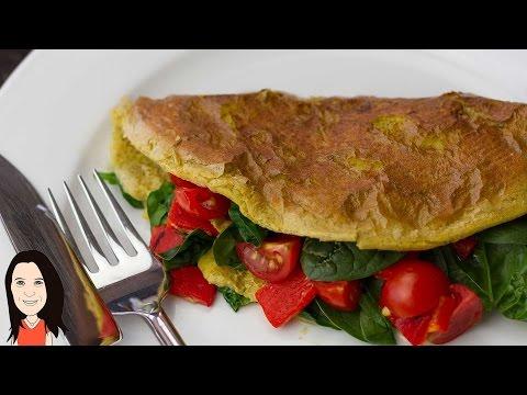 Vegan Chickpea Omelette - NO EGGS! Perfect Vegan Breakfast Idea!