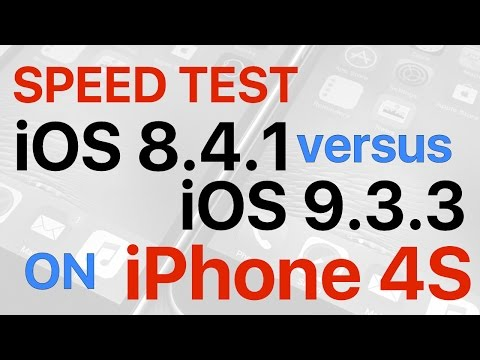 iPhone 4S : iOS 8.4.1 vs iOS 9.3.3 Final Release Build 13G34