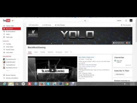 How To Make Moving Channel Art/Banner