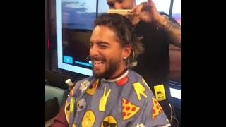 Maluma get new Hairstyle Look from Cancer Patients in Miami Cancer Institute on World Cancer Day