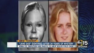 """Jane Doe"" identified after 34 years of mystery"