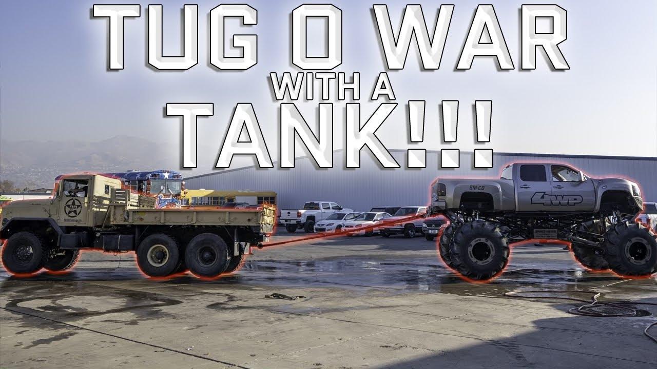 Tank Tracks VS Tires - Ultimate Tug O' War!