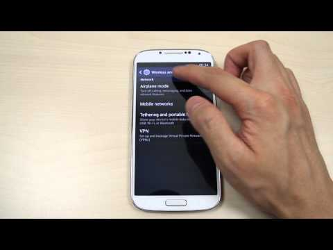 How to turn on flight mode on Samsung Galaxy S4 GT-I9500 / GT-I9505