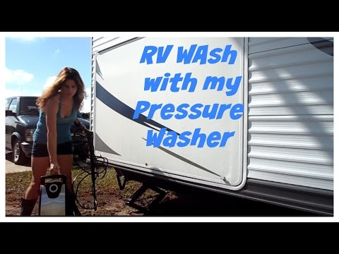 RV Washing with My Pressure Washer