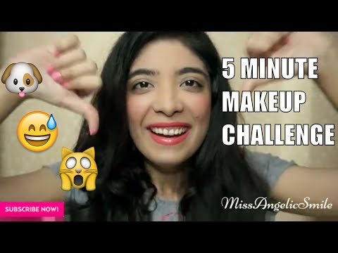 5 Minute Makeup Challenge #EpicFail   Indian YouTuber Bhawna Ahuja