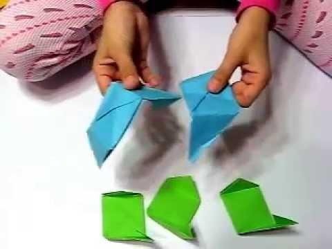 Origami rose cube