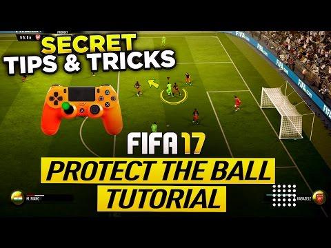 FIFA 17 PROTECT THE BALL TUTORIAL - SECRET PUSH BACK TECH TIPS & TRICKS -  NEW SHIELDING TECHNIQUE