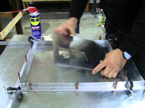 Making Perfect Square Holes in Aluminum Sheet Metal