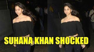 Suhana Khan gets upset with paparazzi