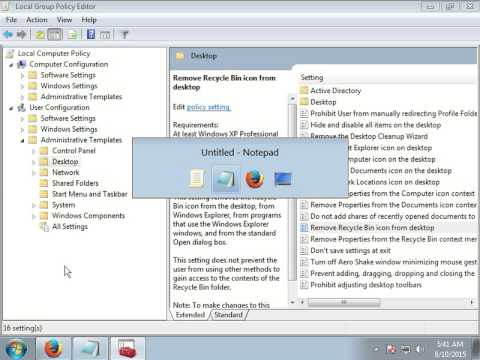 REMOVE RECYCLE BIN ON DESKTOP WITH MAST TRICK IN WINDOW XP AND 7