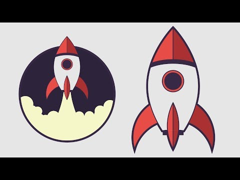 How To Draw a Rocket Spaceship in Adobe Illustrator 🚀