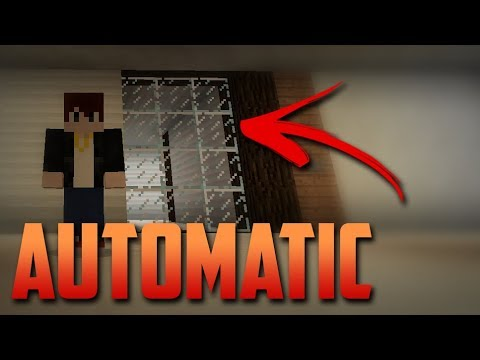 AUTOMATIC SLIDING DOOR Tutorial [Minecraft PE command blocks]