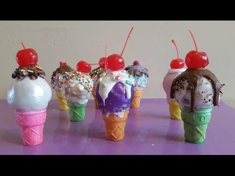Cake pops arcoíris con sorpresa / Ice cream cone cake pops rainbow ❤ Tutorial