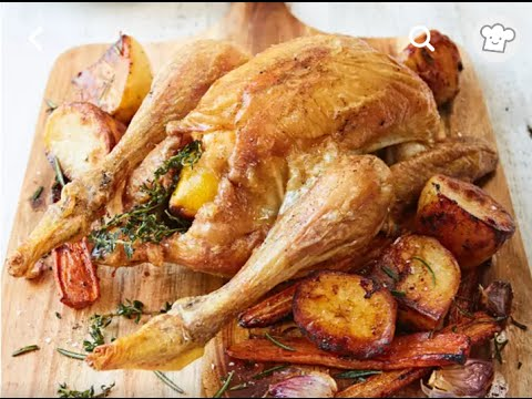 Learn To Cook : Roast Chicken with Potatoes and Carrots Recipe | Free Recipes