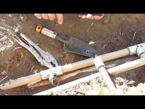 FIXING OUR SPRINKLER SYSTEM : Flex Riser Tube / Flex Tube