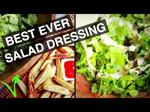 CREAMY VEGAN SALAD DRESSING | DELICIOUS | NUT FREE