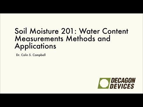 Soil Moisture 201: Water Content Measurements Methods and Applications