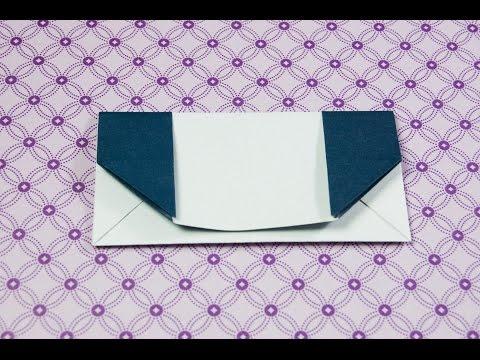How to make a paper handbag | Origami clutch