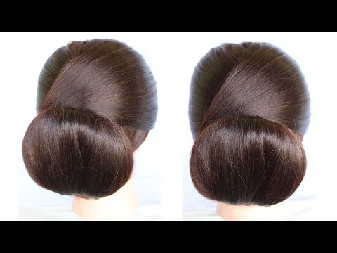 how to make low chignon hair bun hairstyles juda | how to make a bun | short hairstyles | hairstyle