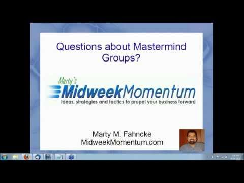 The Power Of The Mastermind | Marty M. Fahncke's Midweek Momentum  for business