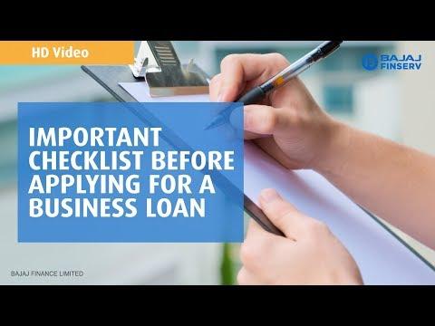 Important Checklist Before Applying for a Business Loan | Bajaj Finserv | HD