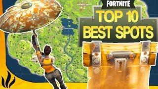Top 10 Meilleurs Spots Pour Drop Solo Coffres Cachs fortnite Battle Royale
