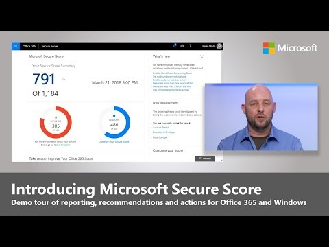 Introducing Microsoft Secure Score for Office 365 and Windows 10