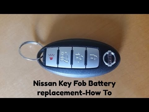 How to replace Nissan Key Fob Battery, Nissan Rogue 2014 key fob battery replacement