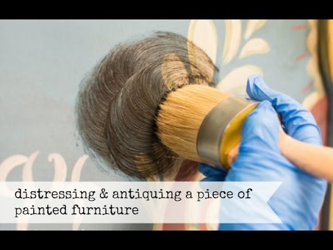 distressing & antiquing painted furniture | miss mustard seed's milk paint