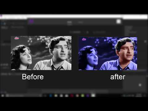 How to Convert Black and white video to color video easily