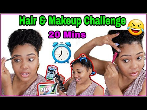 20 Minute Hair & Makeup CHALLENGE   HOW TO GET READY FAST!