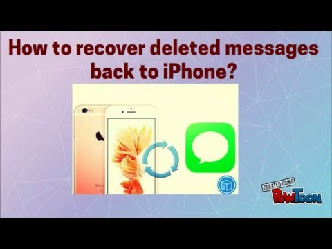 How to recover deleted messages back to iPhone?